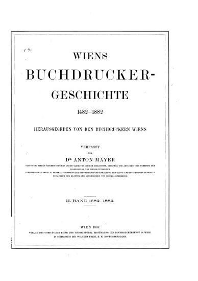 Wiens Buchdrucker Geschichte   1482   1882  2  1682   1882 PDF