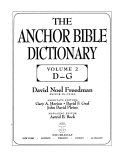 The Anchor Bible Dictionary  D G PDF
