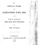 The Poetical Works of A. Pope, Esq