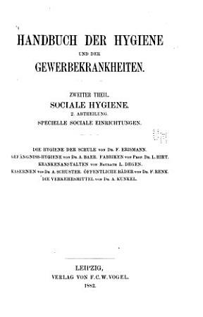 Handbuch der speciellen Pathologie und Therapie       Handbuch der hygiene und der gewerbekrankheiten  1882 1894 PDF