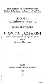 Roma dal 10 febbraio al 7 luglio 1849