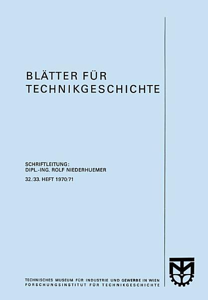 Blatter Fur Technikgeschichte