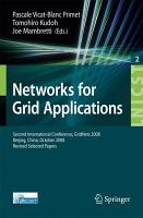 Networks for Grid Applications PDF