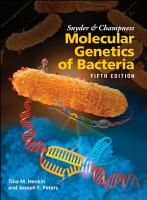 Snyder and Champness Molecular Genetics of Bacteria PDF