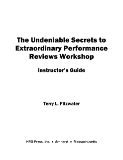 Undeniable Secrets of Performance Appraisal Workshop Book