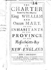 Acts and Laws: Of His Majesty's Province of the Massachusetts-Bay in New-England. [Royal Arms].