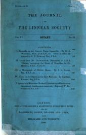 The journal of the Linnean Society of London: Volume 11