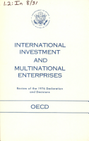 Review of the 1976 Declaration and Decisions on Guidelines for Multinational Enterprises  National Treatment  International Investment Incentives and Disincentives  Consultation Procedures PDF