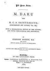 M. Daru: Volume 9