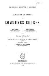 Géographie et histoire des communes belges: Volume3