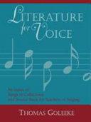 Literature for Voice PDF