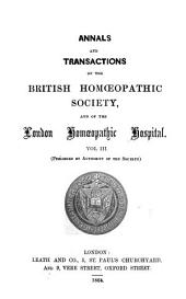 Annals and Transactions of the British Homceopathic Society
