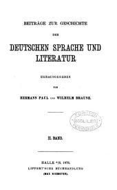 BEITRAGE ZUR GESCHICHTE DER DEUTSCHEN SPRACHE UND LITERATUR