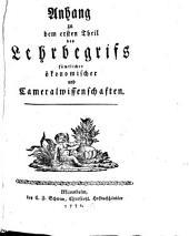Lehrbegrif sämtlicher oeconomischer- und Cameralwissenschaften: Band 1,Ausgabe 2