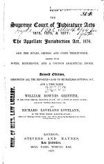 The Supreme Court of Judicature Acts, 1873, 1875, & 1877