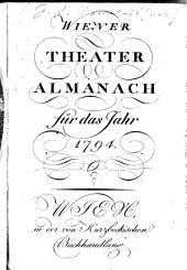 Wiener Theater-Almanach: für das Jahr ...