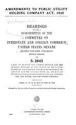 Amendments to Public Utility Holding Company Act, 1935