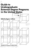 Guide to Undergraduate External Degree Programs in the United States