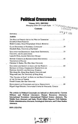 Political Crossroads PDF