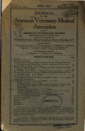Journal of the American Veterinary Medical Association: Volume 4; Volume 50