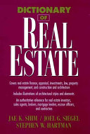 Dictionary of Real Estate Book