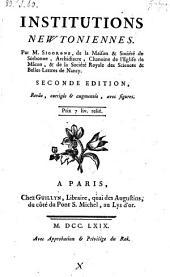Institutions Newtoniennes. 2. ed., rev., corr. et augm