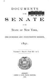 Documents of the Senate of the State of New York: Volume 1, Part 3