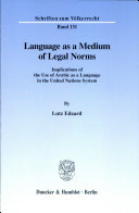 Language as a medium of legal norms
