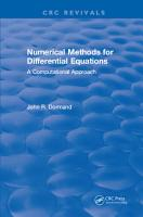 Numerical Methods for Differential Equations PDF