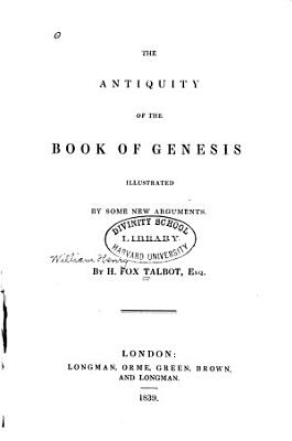 The Antiquity of the Book of Genesis