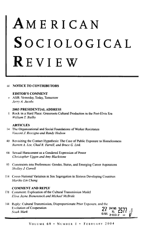 American Sociological Review PDF