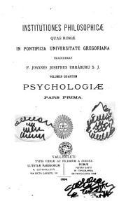 Institutiones philosophicae quas Romae in Pontificia Universitate Gregoriana tradiderat: Volumes 5-6