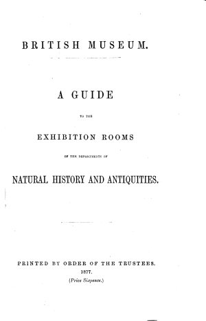 List of the British Museum Publications