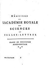 Histoire de l'Academie Royale des Sciences et Belles Lettres: année MDCCLVI.