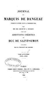 Journal du marquis de Dageneau: 1713-1715