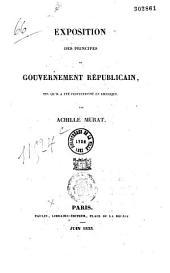 Exposition des principes du gouvernement républicain, tel qu'il a été perfectionné en Amérique