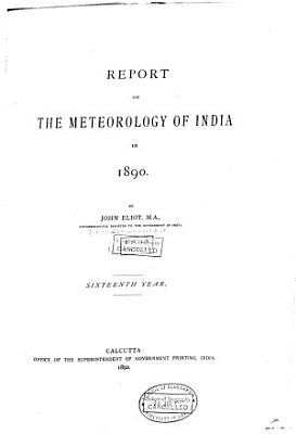 Report on the Meteorology of India PDF