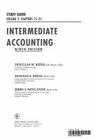 Intermediate Accounting    Study Guide PDF