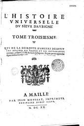 L'histoire universelle du sieur d'Aubigné...