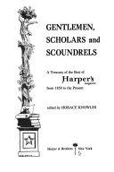 Gentlemen, Scholars, and Scoundrels