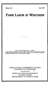 Land tenure in Wisconsin with special reference to the land tenure stages