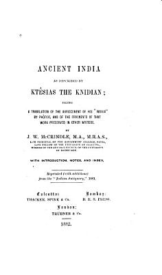 Ancient India as Described by Kt  sias the Knidian PDF