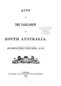 Acts of the Parliament of South Australia PDF