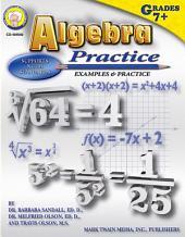 Algebra Practice Book, Grades 7 - 8