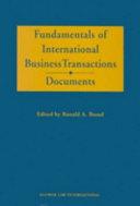 Fundamentals of International Business Transactions  PDF