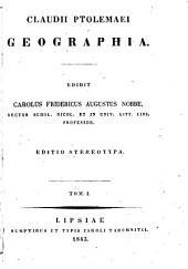 Claudii Ptolemaei Geographia: Volume 1