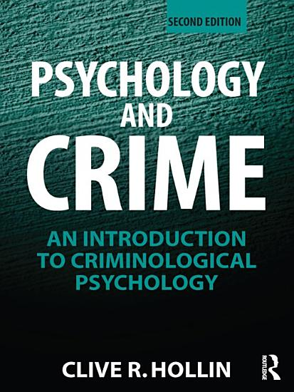 Psychology and Crime PDF