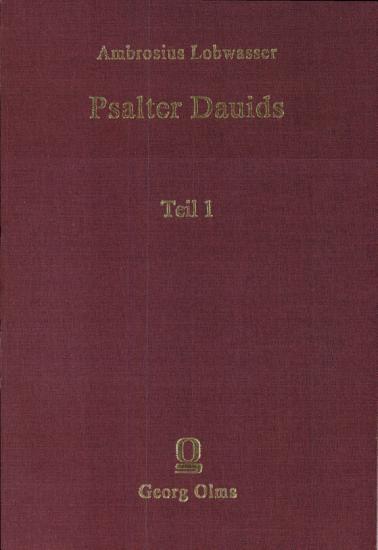 Bd 1 Lobwasser  Psalter PDF