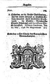 Europäische Staats-Cantzley: darinnen zum Behuff der neuesten politischen-, Kirchen- und Reichshistorie was sowohl in Religions-Angelegenheiten merckwürdiges vorgefallen als in Staats- und Reichs-Geschäfften vor kurztem abgehandelt worden und zum Vorschein gekommen ist, Band 95