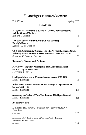 The Michigan Historical Review PDF